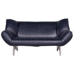 Leolux 3 Seater Leather and Oak Sofa For Sale at 1stdibs