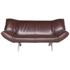 Leolux Tango Designer Leather Sofa Brown Genuine Leather Three-Seat Couch