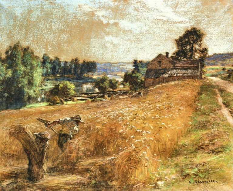 La Fenaison - Impressionist Painting by Léon Augustin Lhermitte
