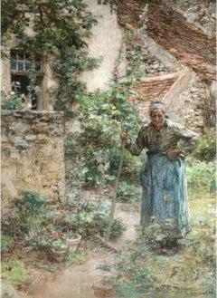 Marie Drax in her Garden