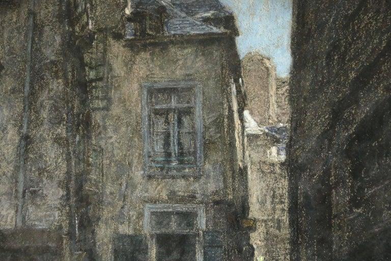 Saint Malo - Gray Figurative Painting by Léon Augustin Lhermitte
