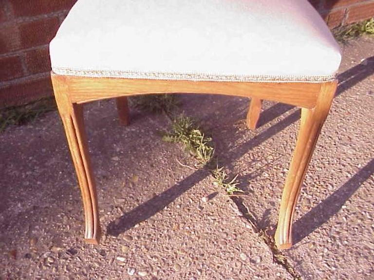 European Leon Benouville, an Art Nouveau Oak Desk or Side Chair with Subtle Organic Lines For Sale
