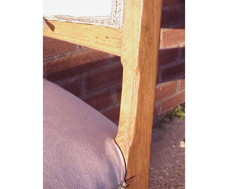Leon Benouville, an Art Nouveau Oak Desk or Side Chair with Subtle Organic Lines For Sale 1