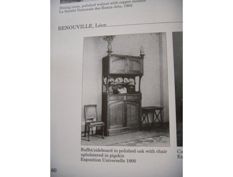 Leon Benouville, an Art Nouveau Oak Desk or Side Chair with Subtle Organic Lines For Sale 2
