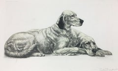 Two Setters Resting by Leon Danchin