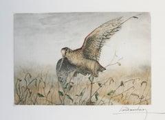 Woodcock Leon Danchin original signed etching