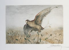 Woodcock Leon Danchin original signed etching