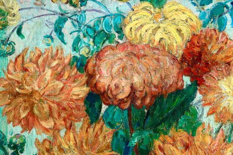 Un grand bouquet de fleurs - Impressionist Oil, Still Life Flowers - Leon Detroy 2
