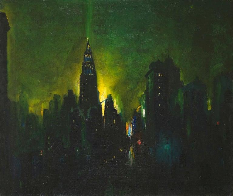 Leon Dolice Landscape Painting - New York Nocturne
