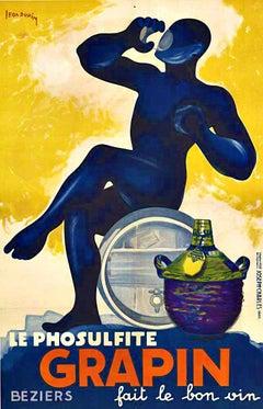 Grapin fait le bon vin original French vintage poster