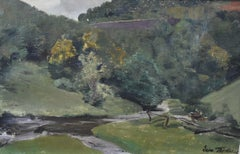 Léon Frédéric (1856-1940)  Landscape in Nafraiture, Oil on canvas, signed