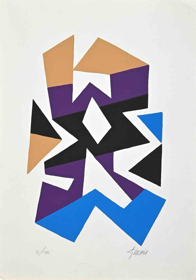 Untitled is an original graphic artwork realized by Leon Gischia in the 1970s.  Mixed colored serigraph. Hand-signed on the lower right corner.  Numbered on the lower left margin. Edition 11/100.  Good conditions.  Includes authenticity certificate
