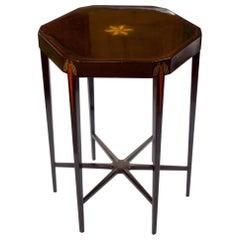 Léon Jallot Octagonal Lacquer Side Table