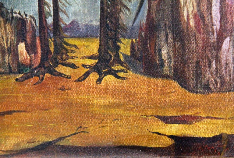 Leon Kelly, Mosquito on Orange Mountain, Oil on Canvas, 1943 For Sale 2