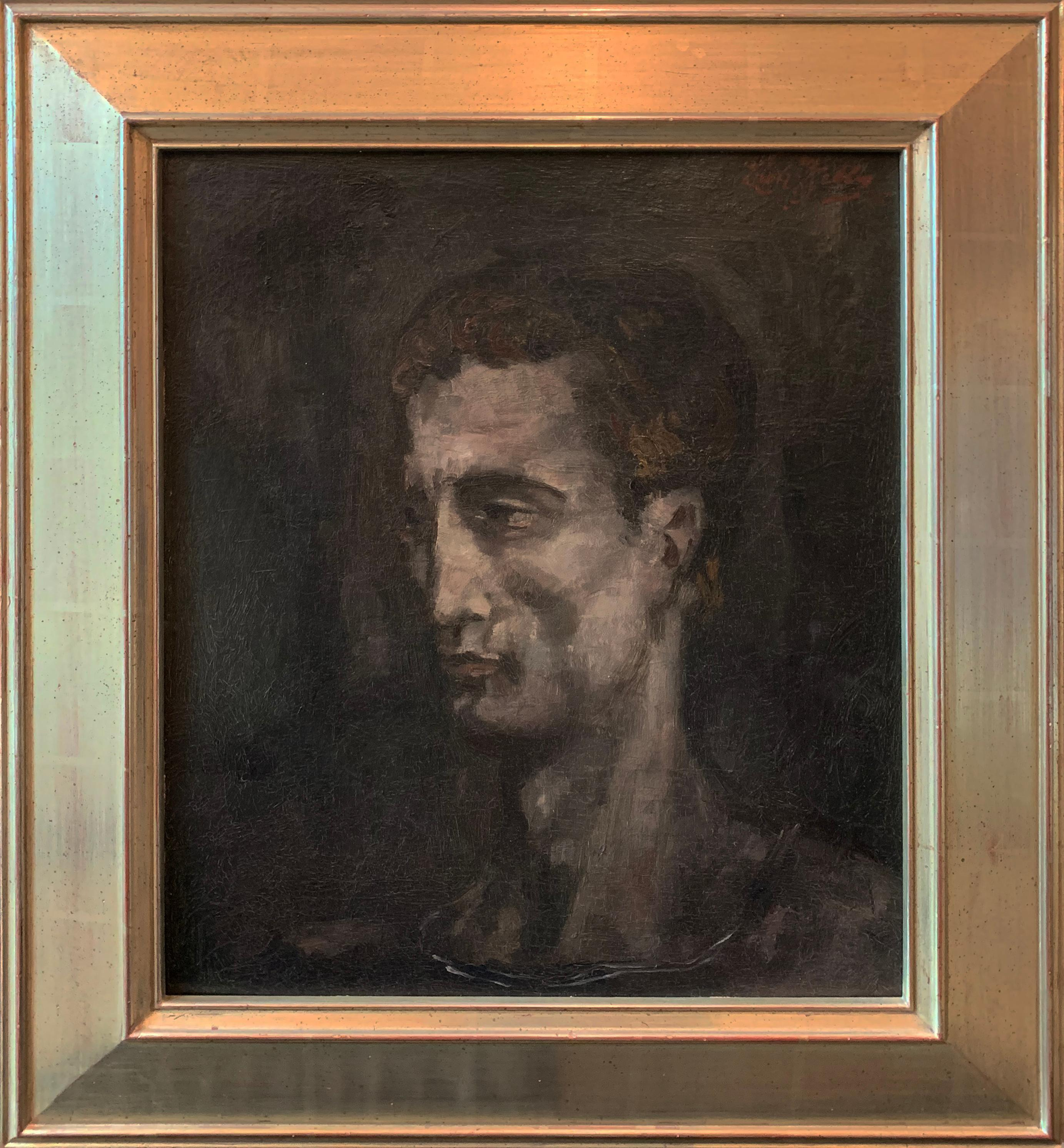 Self Portrait, Oil on Board, Signed and Dated, 1925, American Modernist
