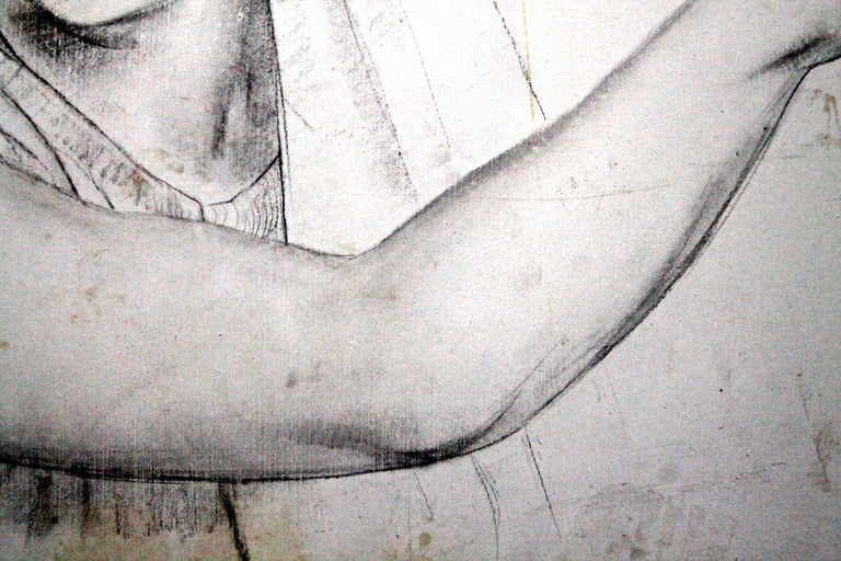 Mid-20th Century Leon Kroll Charcoal Study for Central Panel of Worcester Mural For Sale