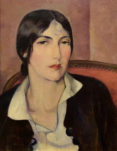 """Drina,"" Leon Kroll, oil, portraiture, 20th century, american art, modernism"