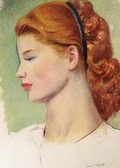 Portrait of a Redhead in Profile