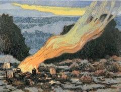 Cedar Smoke 9/18 (campfire, smoke, dusk)