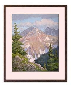 From Cottonwood Pass (evergreens, purple mountain majesty, moody skies)