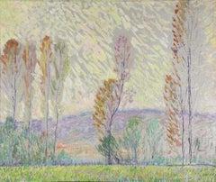 Leon A. Makielski 'October Indian Summer' Impressionist Landscape Oil Painting