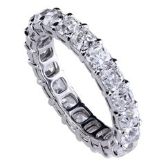 Leon Mege 0.25 Carat Each True Antique Cushion Diamonds Platinum Eternity Band