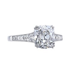 Leon Mege 6 Carat Cushion Diamond Bespoke Engagement Solitaire Platinum Ring