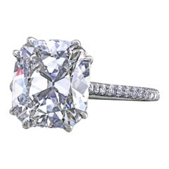 Leon Megé Antique Cushion Diamond Built to Order Engagement Ring with Micro Pave