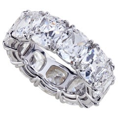 Leon Mege Antique Cushion Diamond Custom Made Platinum Eternity Band