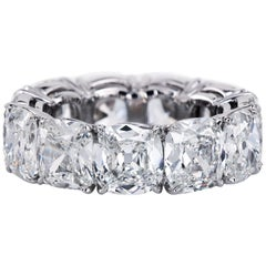 Leon Mege GIA Antique Cushions in Eternity Band