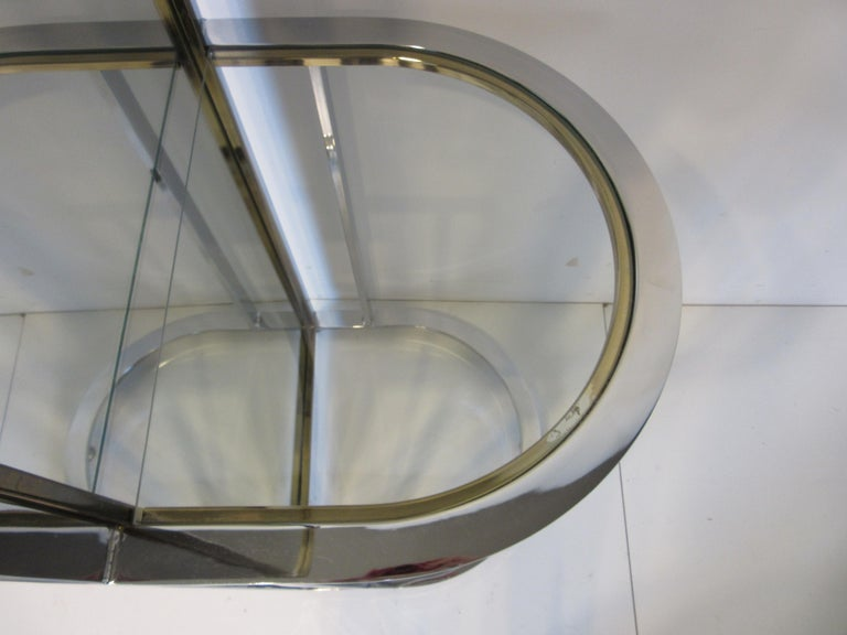 Leon Pace Standing Racetrack Hall Mirror for the Pace Collection For Sale 5