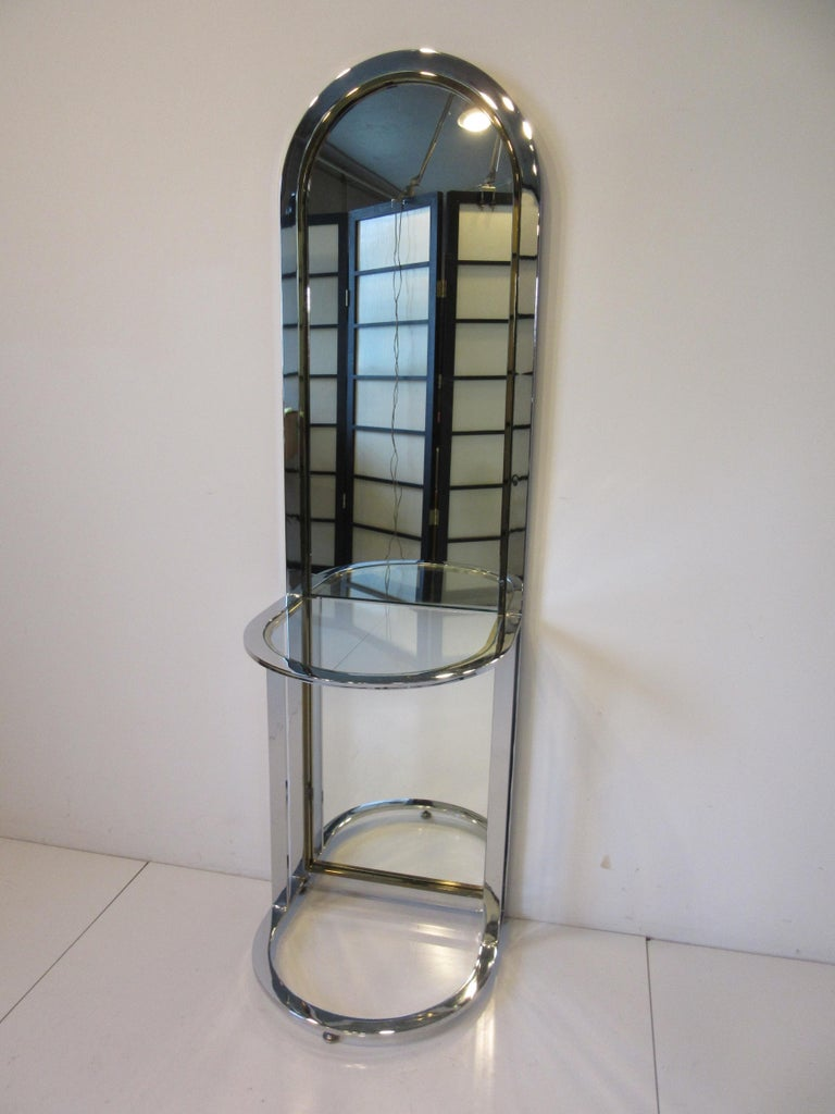 Leon Pace Standing Racetrack Hall Mirror for the Pace Collection For Sale 6