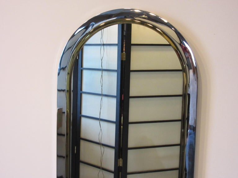 Modern Leon Pace Standing Racetrack Hall Mirror for the Pace Collection For Sale
