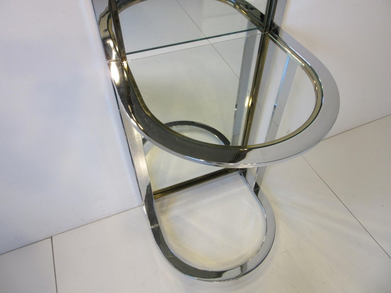 Leon Pace Standing Racetrack Hall Mirror for the Pace Collection In Good Condition For Sale In Cincinnati, OH