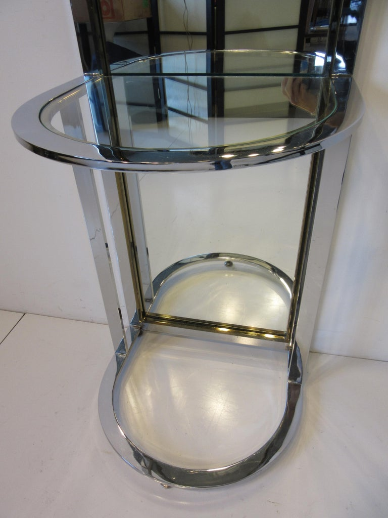 20th Century Leon Pace Standing Racetrack Hall Mirror for the Pace Collection For Sale