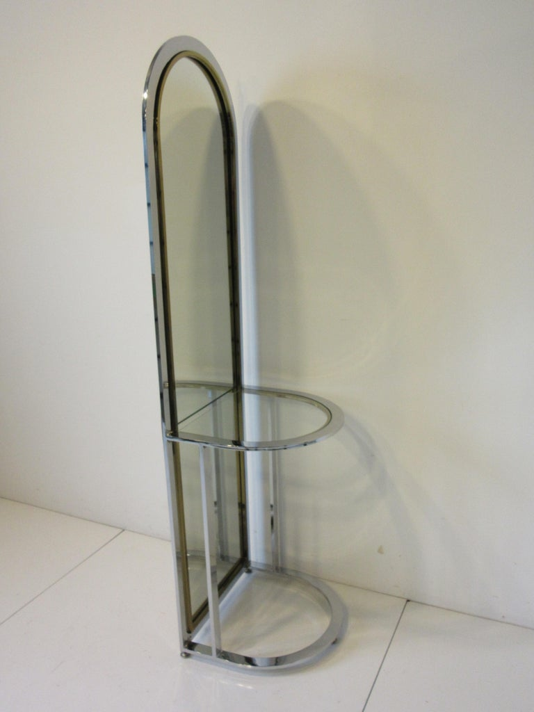 Leon Pace Standing Racetrack Hall Mirror for the Pace Collection For Sale 2