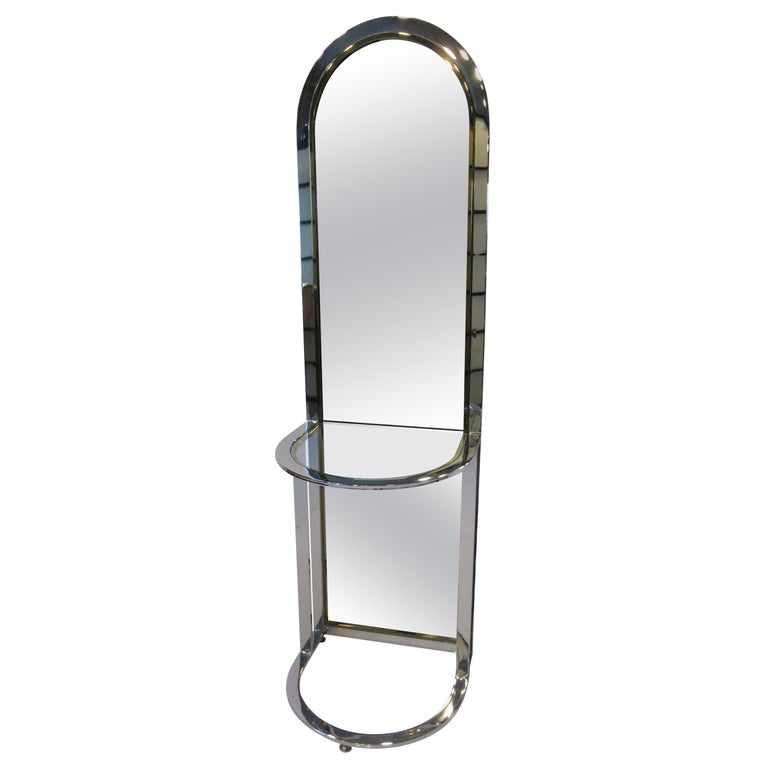 Leon Pace Standing Racetrack Hall Mirror for the Pace Collection For Sale