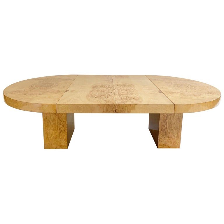 Wood Dining Table For Sale: Leon Rosen Burl Wood Oval Dining Table For Sale At 1stdibs
