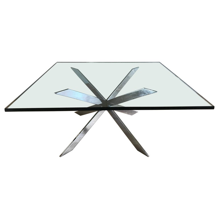 Leon Rosen for Pace Chrome Cocktail Table