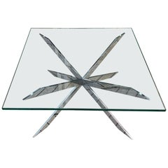 Leon Rosen for Pace Chrome Coffee Table