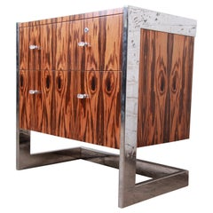 Leon Rosen for Pace Collection Brazilian Rosewood and Steel Cantilevered Chest