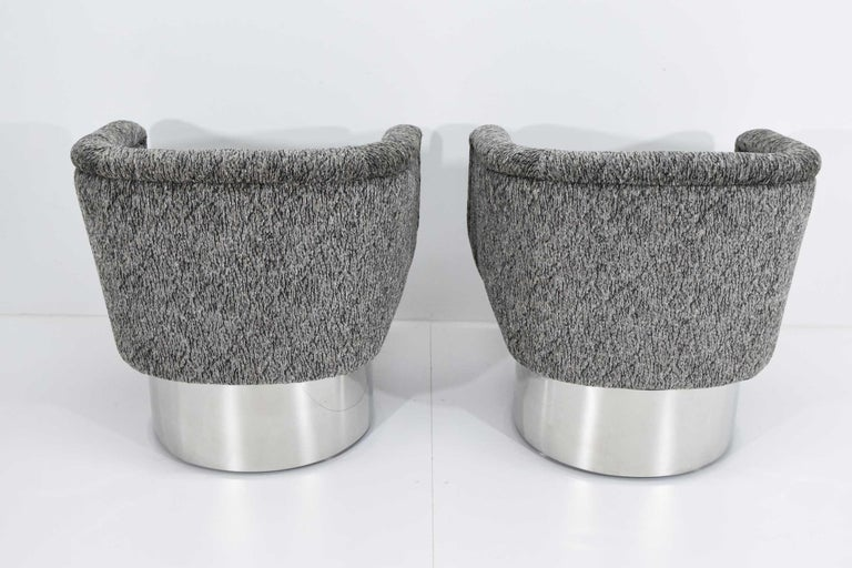 20th Century Leon Rosen for Pace Collection Pair of Swivel Tub Lounge Chairs For Sale