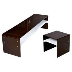 Leon Rosen for Pace Lucite Acrylic Modern Coffee Table and End Table Set