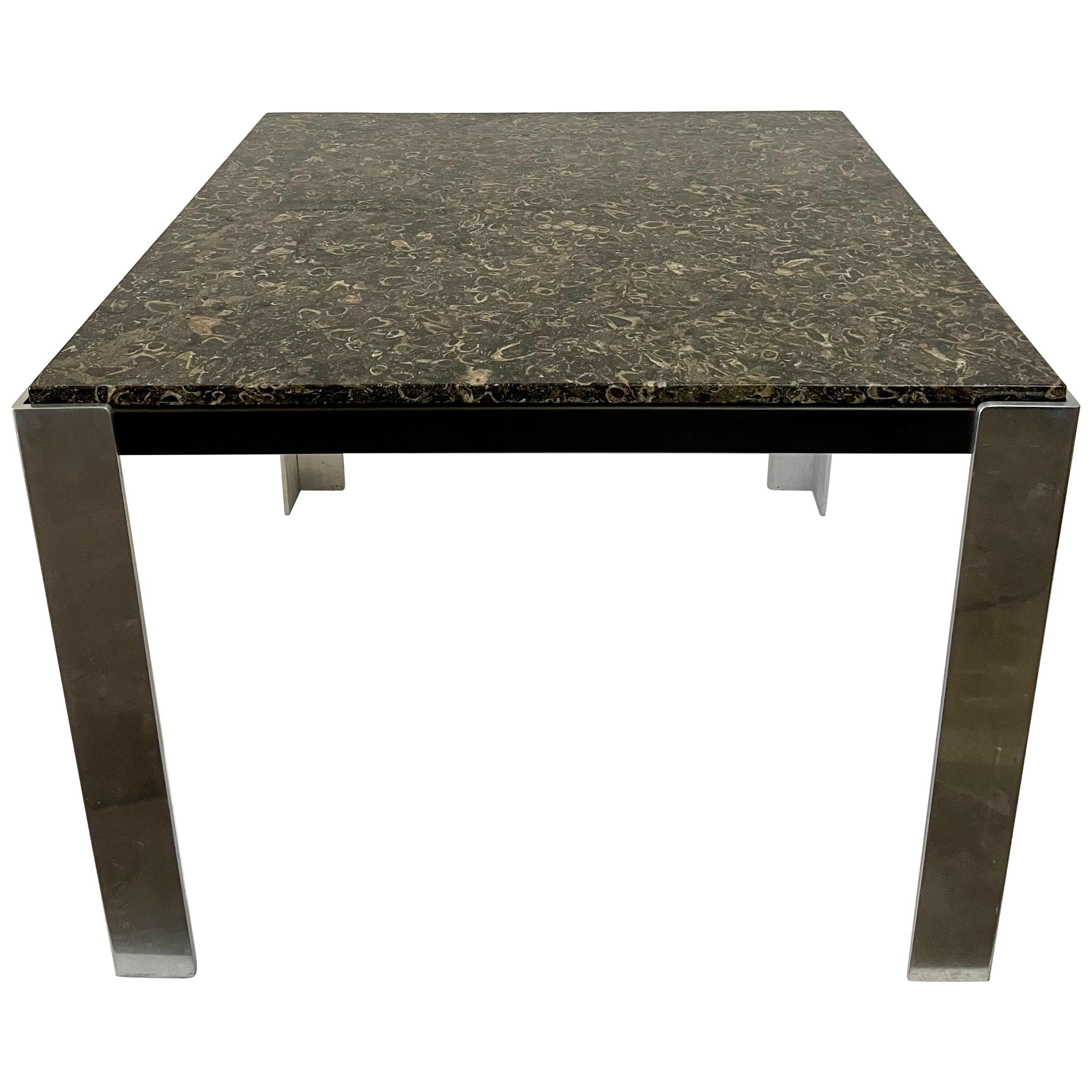 Leon Rosen for PACE Marble and Steel Game/ Card Table