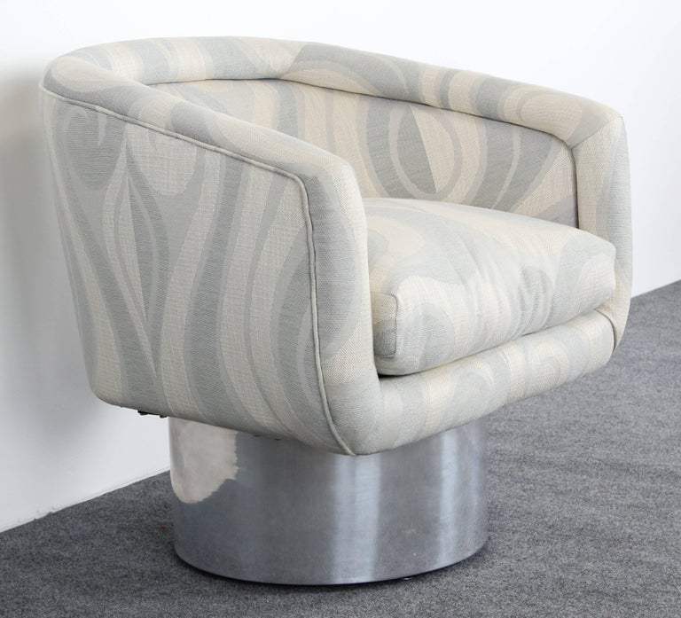 Mid-Century Modern Leon Rosen for Pace Swivel Lounge Chair, 1970s For Sale