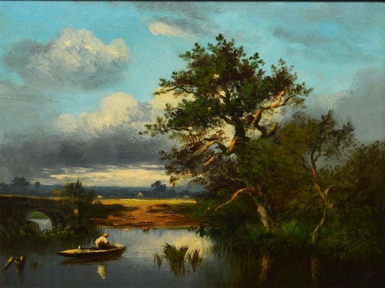 19th Century French Barbizon Landscape by Leon-Victor Dupre - Barbizon School Painting by Léon-Victor Dupré