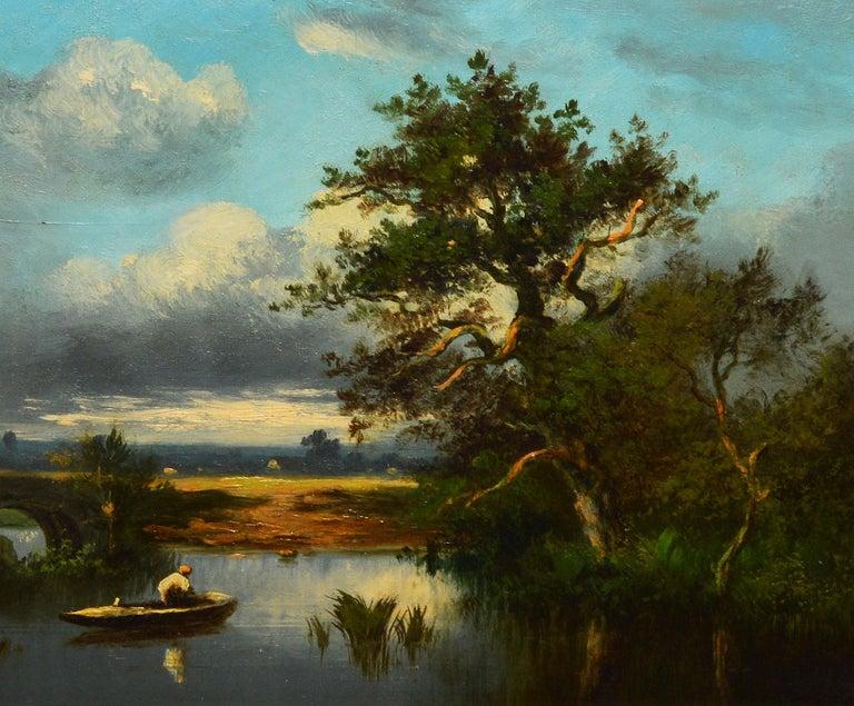 19th Century French Barbizon Landscape by Leon-Victor Dupre - Brown Landscape Painting by Léon-Victor Dupré