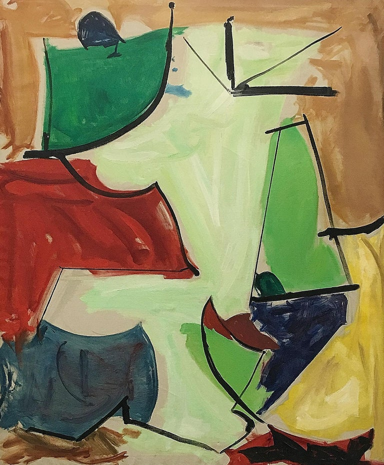 Leon Wall Abstract Painting - Camp Doriance