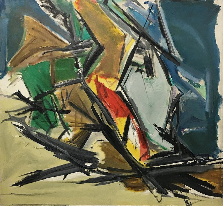 Leon Wall Abstract Painting - Untitled