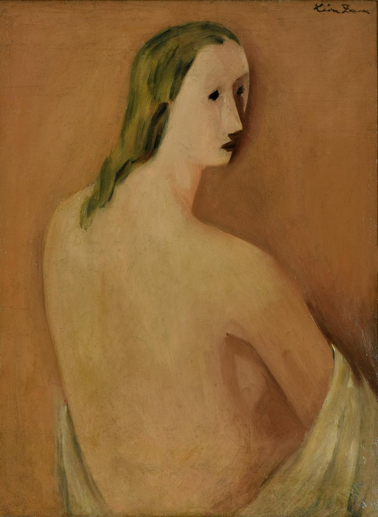 Portrait - Painting by Léon Zack
